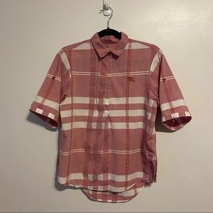 Burberry Brit Coral Plaid Shirt